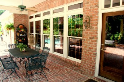 Covered Brick Patio