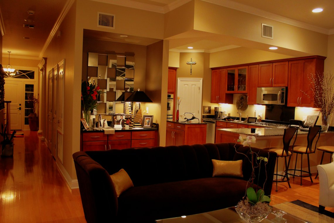 HDR Living Room & Kitchen